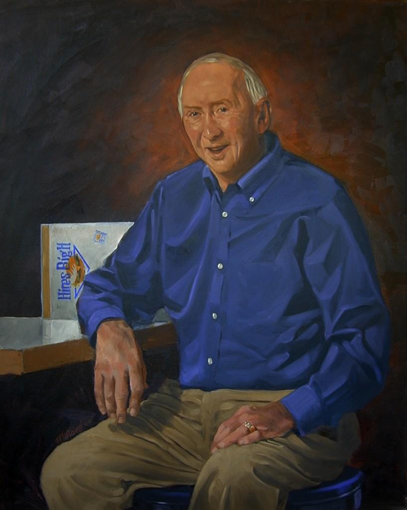 Don Hale-[32X40 Oil on Canvas by Dennis Millard