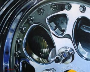 Terry Nish [Wheel Detail]  by Dennis Millard