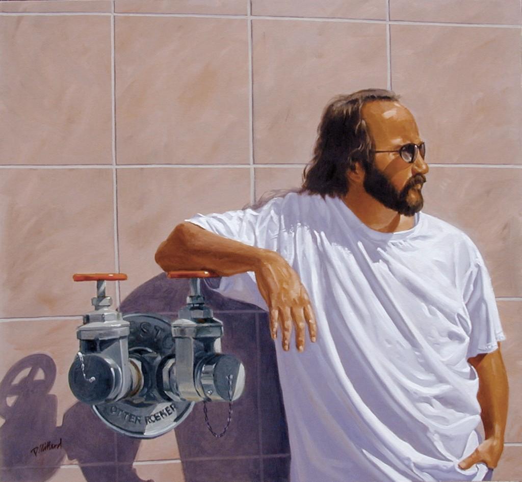 Steve - 36X36 Oil on Canvas by Dennis Millard