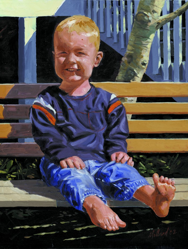 Taylor's Toes - 16X20 Oil on Canvas by Dennis Millard