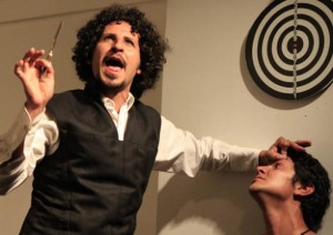 "In the play ""Mátame, por favor"" (""Kill me, please""), Cristian Mercado plays a psychopath. ""It's very dense and after each function I end up as if I had snorted a line of cocaine. I end up in a very dark place,"" Mercado says."