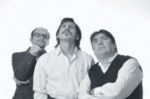 "Gory Patiño, Cristian Mercado and Luigi Antezana star in the Bolivian production of French playwright Yasmina Reza's ""Art."" The play was produced by the theater collective Oveja Negra, of which Mercado was the director for several years."