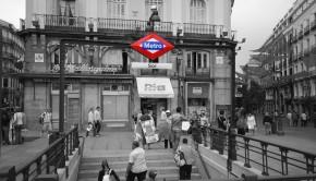 El metro de Madrid en la Plaza del Sol